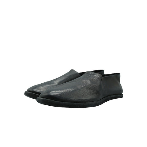 GUIDI 27E BLACK CALF FULL GRAIN SLIP ON SHOES
