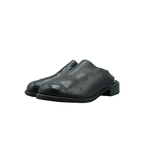GUIDI Z6 BLACK CALF BACKSIDE FULL GRAIN SLIP ON SHOES