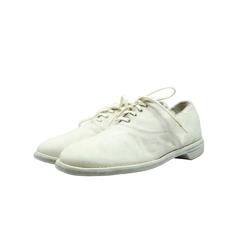GUIDI 110 WHITE KANGAROO REVERSE LACE UP DERBY