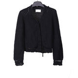 MAISON MARTIN MARGIELA HIDDEN BUTTON CLOSURE KNIT CARDIGAN