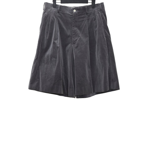 COMME DES GARCONS HOMME PLUS AW15 GREY COTTON PLEATED SHORTS