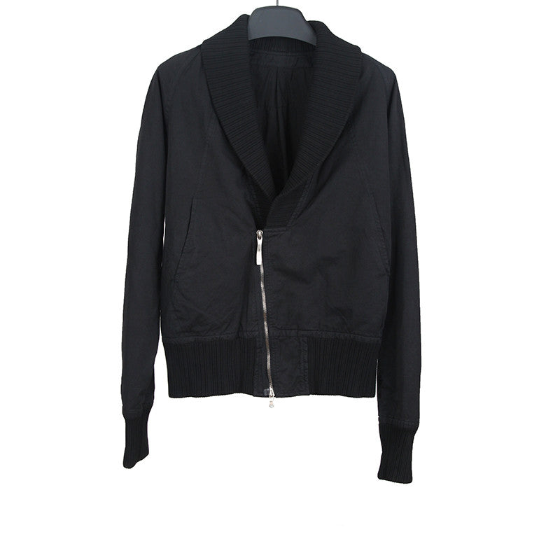 THE VIRIDI-ANNE RAYON BLEND ZIP UP BOMBER JACKET