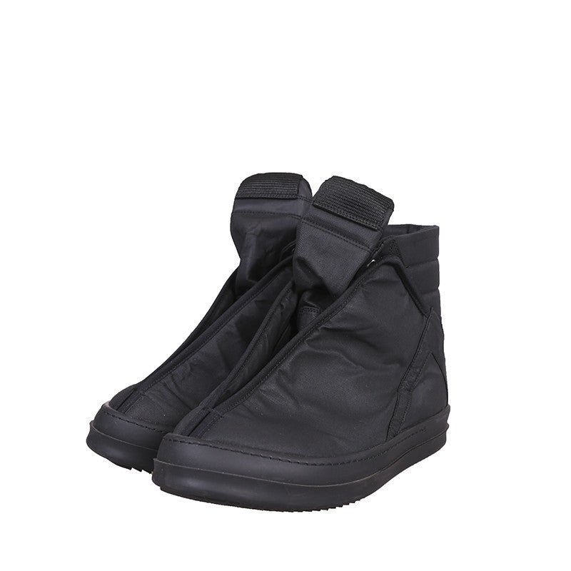 DRKSHDW BY RICK OWENS WAXED HOOG DUNK HI-TOP SNEAKERS