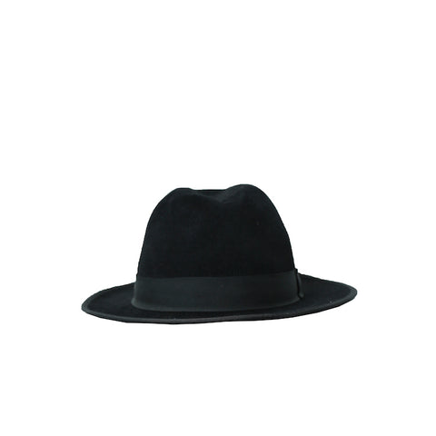 PAUL HARNDEN SHOEMAKERS BLACK WOOL PORK PIE HAT