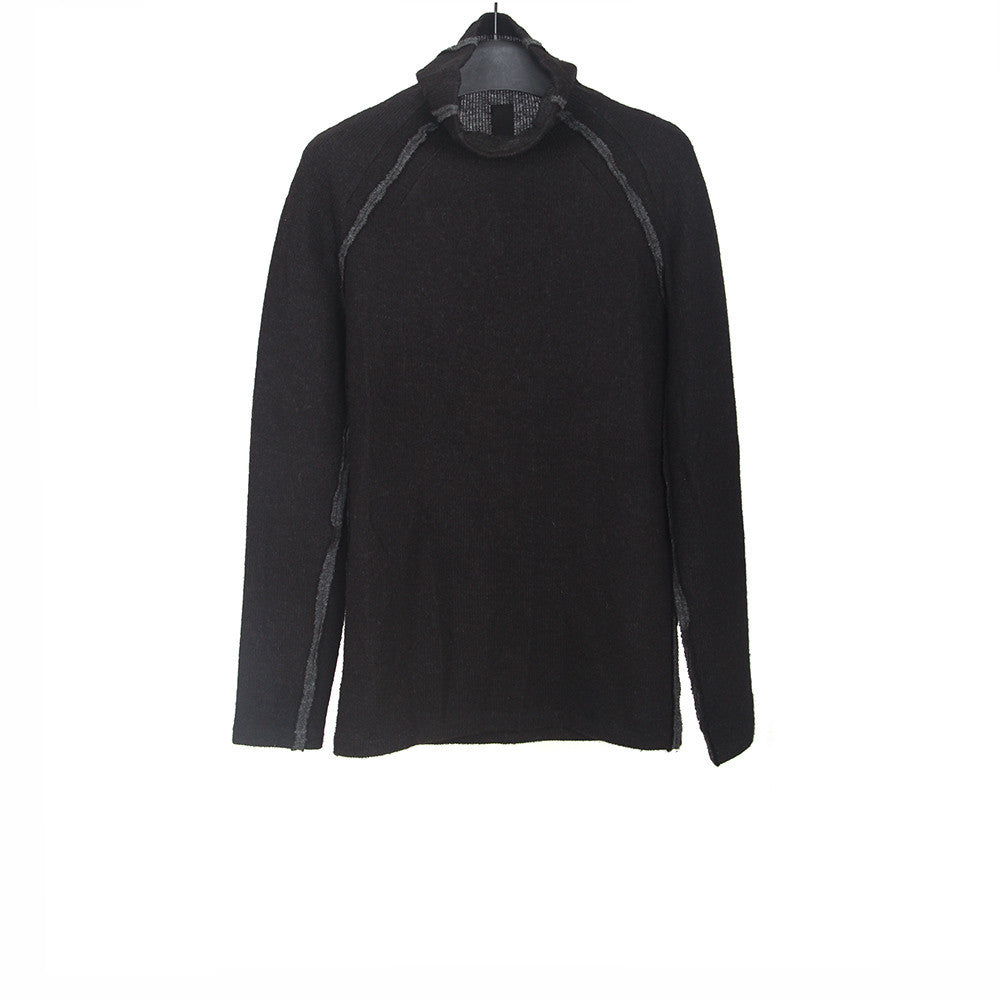FORME D'EXPRESSION REVERSEBLE TURTLE NECK LONG SLEEVES SWEATER