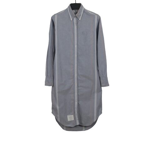 THOM BROWNE WOMEN'S OXFORD STRIPPED OVERLONG SHIRT