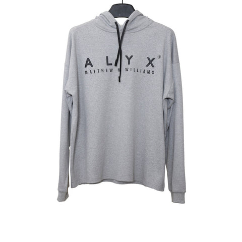 ALYX SS18 GREY HOODED COTTON LONG SLEEVE TEE
