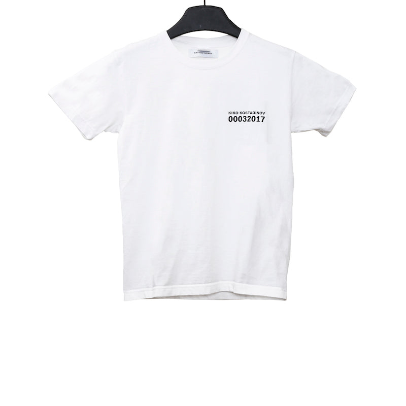 "KIKO KOSTADINOV AW17 WHITE COTTON ""CLASSLESS"" S/S T-SHIRT"