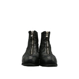 GUIDI PL1 BLACK HORSE LEATHER FRONT ZIP BOOTS