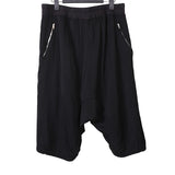 "RICK OWENS 16SS ""CYCLOPS"" VISCOSE BLEND DOUBLE SIDE ZIP CROTCH SHORTS"