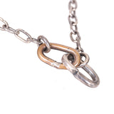 CHIN TEO KNIGHT CHAIN NECKLACE WITH HOOK CLOSURE