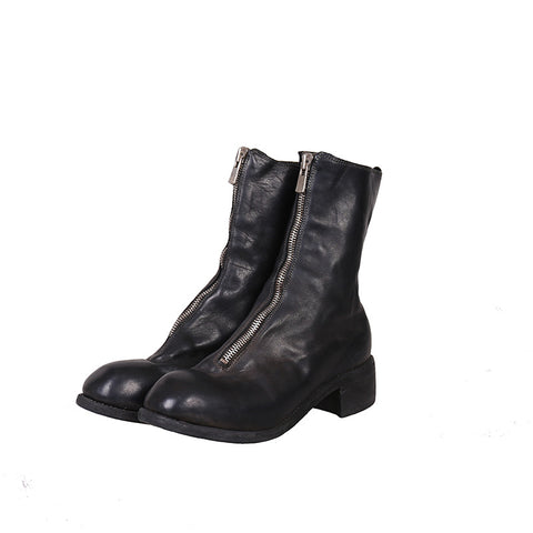 Copy of GUIDI PL2 HORSE FULL GRAIN FRONT ZIP LEATHER BOOTS