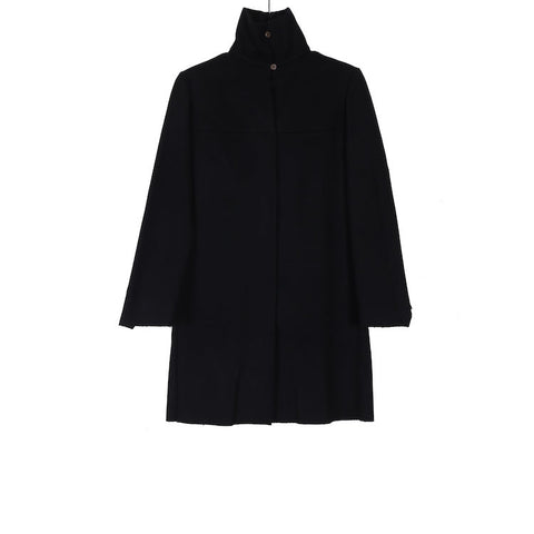 M.A+ C240-WSF BLACK WOOL MEDIUM FIT 2 FRONT POCKET COAT