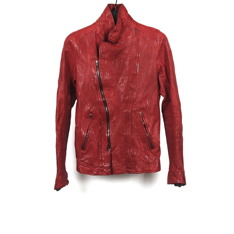 JULIUS_7 09AW BOILED BLOOD RIDER LEATHER JACKET