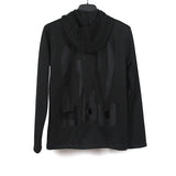 COMME DES GARCONS HOMME PLUS 14SS POLYESTER BACK CUT OUT ZIPPER HOODIE