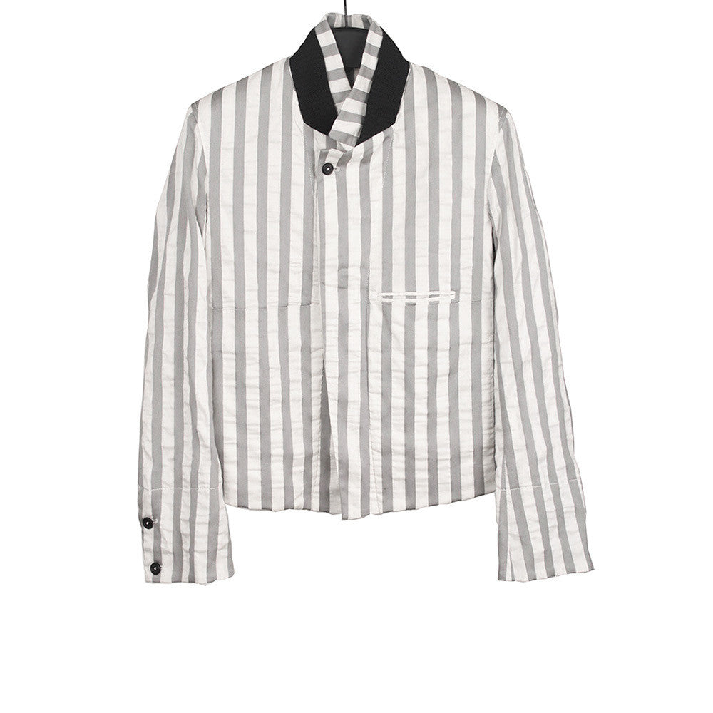 ANN DEMEULEMEESTER STRIPE COTTON JACKET