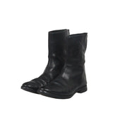 "CAROL CHRISTIAN POELL OBJECT DYED UNLINED DIAGONAL ZIP ""GOODYEAR"" BOOTS"