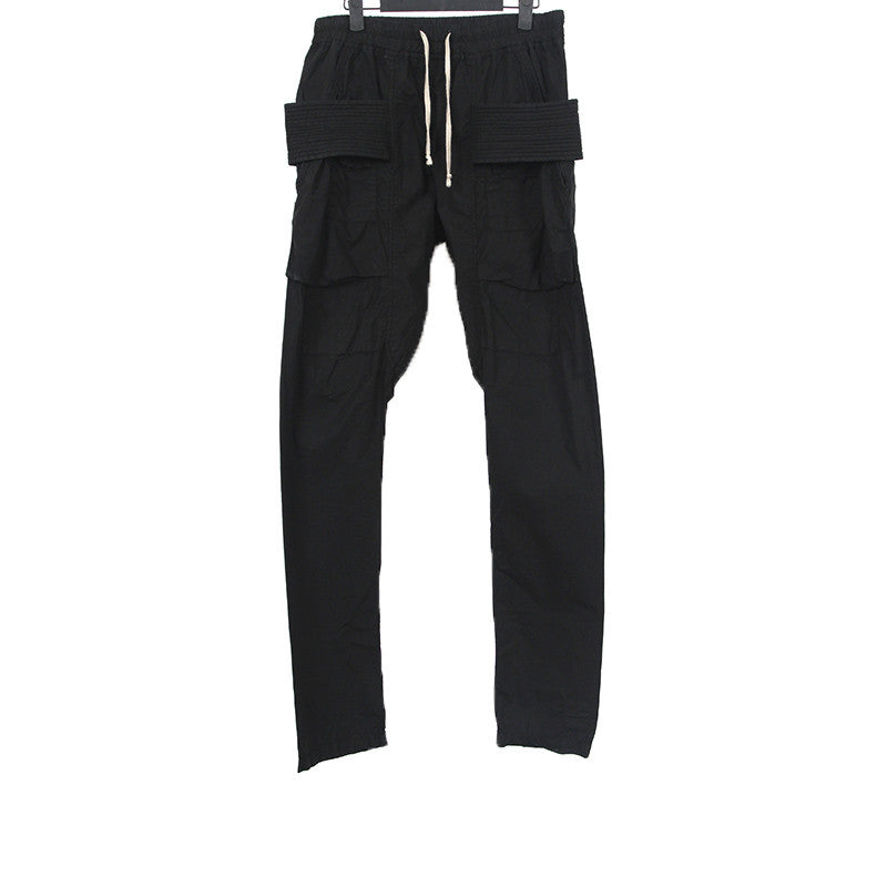 DRKSHDW BY RICK OWENS DROP CROTCH CARGO PANTS