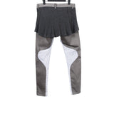 UNDERCOVER COTTON BLEND BACK SKIRTED PANTS WITH INSEAM PATCHWORK