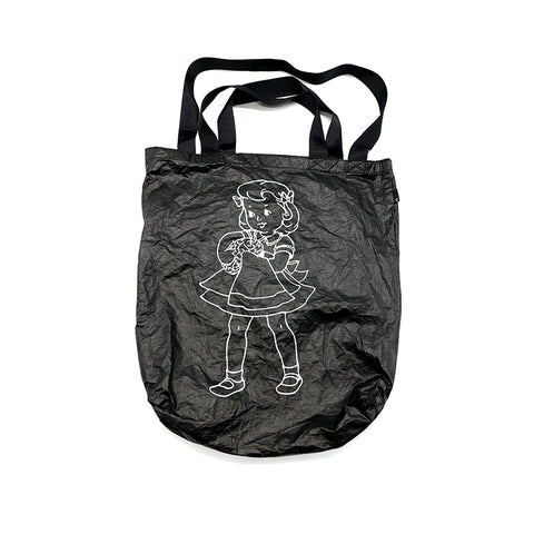 "UNDERCOVER 17AW ""BRAINWASHED"" NYLON BLACK TOTE BAG"