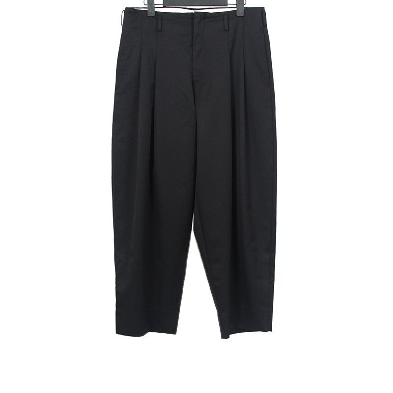 COMME DES GARCONS HOMME PLUS 15SS WOOL BLEND WIDE LEG PLEATED PANTS