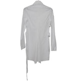 ANN DEMEULEMEESTER COTTON DRAWSTRING COLLARS WITH EXTRA BACK ADJUSTABLE BELTS DETAIL SHIRT