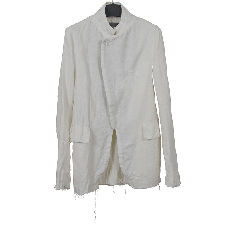 ELENA DAWSON LINEN RAW FINISHED DOUBLE LAYER BLAZER