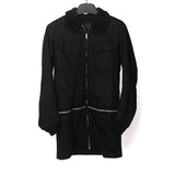 UNDERCOVER UNDERCOVERISM FUR LINED COAT W/ ZIPPERED DETACHABLE PANEL