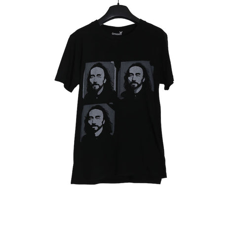 YOHJI YAMAMOTO GROUND Y BLACK PRINT SHORT SLEEVE T-SHIRT