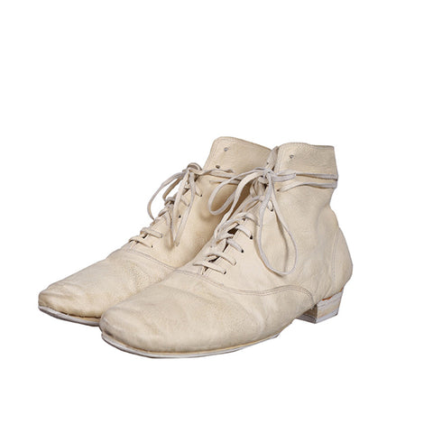 GUIDI 615 KANGAROO LEATHER MID-TOP LACE UP ANKEL BOOTS