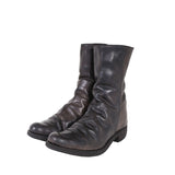 A1923 AUGUSTA ST3 DISTRESSED HI-TOP CALF LEATHER BOOTS
