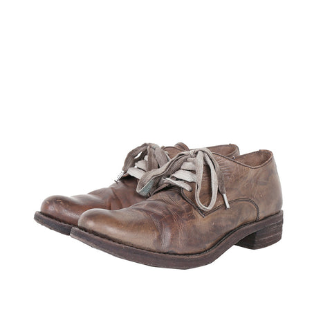 A1923 AUGUSTA 033N DISTRESSED LACE UP BABY CALF LEATHER DERBY