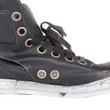 A1923 AUGUSTA SSN3 LACE UP HORSE LEATHER HI-TOP SNEAKERS