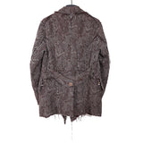 TAKAHIRO MIYASHITA THE SOLOIST 11AW RAW EDGE DOUBLE BREAST PAISLEY JACKET