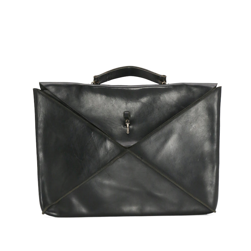 "M.A+ BE151 BLACK LEATHER 15"" ENVELOPE CESE"