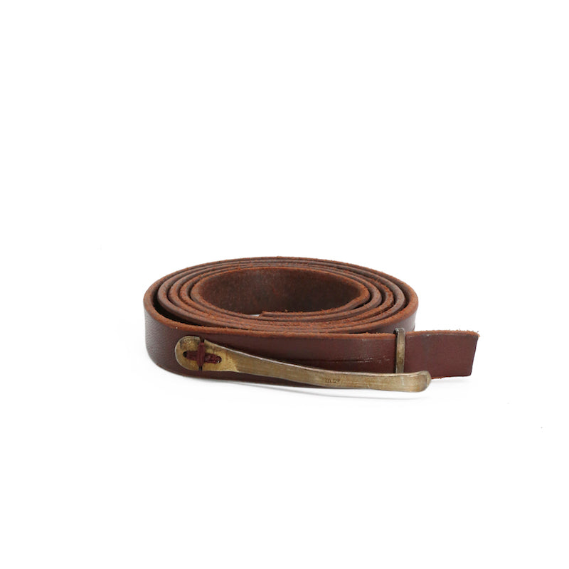 M.A+ EA1A LEATHER BUCKLE SKINNY BELT