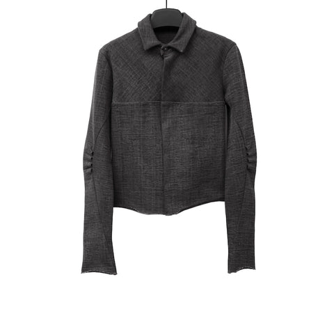 M.A+ J251 – JP CARBON COLOUR PLEATED ELBOW JACKET
