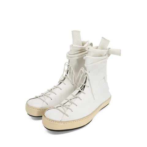 M.A+ SW9P2 COW LEATHER DOUBLE FOLD HIGH TOP SNEAKER