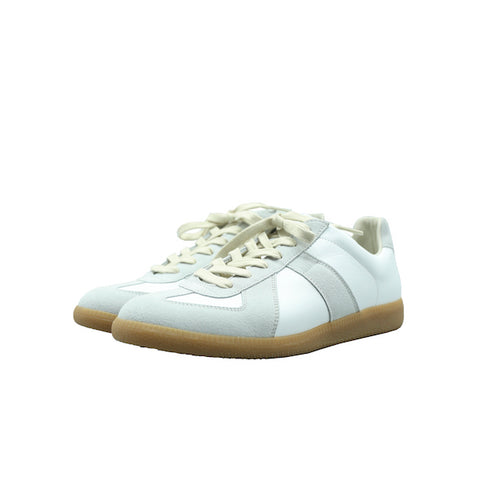 MAISON MARGIELA WHITE SUEDE AND LEATHER REPLICA GERMAN ARMY SNEAKER