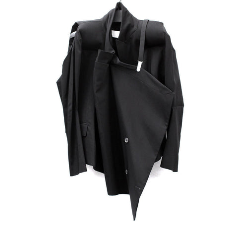 MASION MARTIN MARGIELA DECONSTRUCTED PADDED SHOULDER BLAZER
