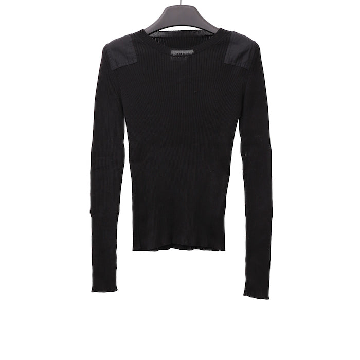 MM6 MAISON MARGIELA SS17 BLACK PATCHED RIB KNIT PULLOVER