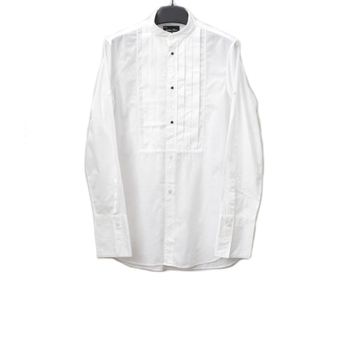 NUMBER (N)INE PLEATED STAND COLLAR SHIRT W/ LARGE CUFF