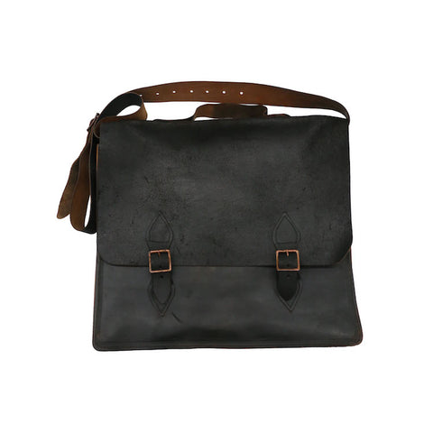 PAUL HARNDEN LARGE REVERSE LEATHER SATCHEL BAG
