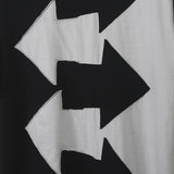 COMME DES GARCONS POLYESTER ARROW SIGN PRINT T-SHIRT