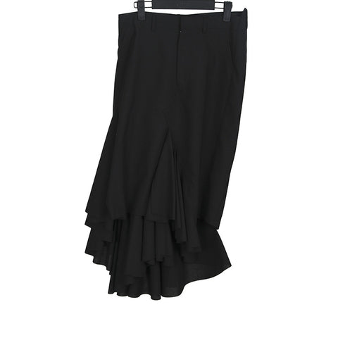 JUNYA WATANABE 11AW WOOL BLEND TIERED SKIRT