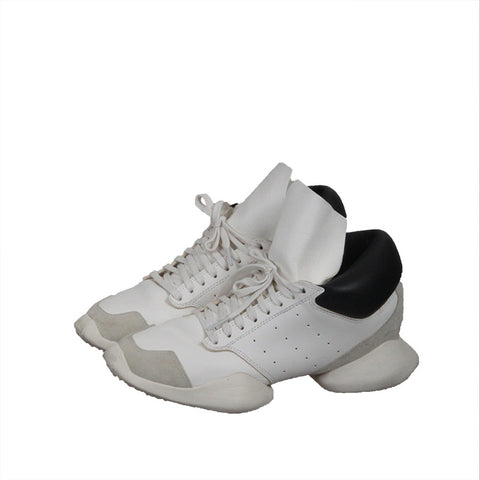 RICK OWENS X ADIDAS 14SS 1ST GENERATION LEATHER RUNNING SNEAKERS