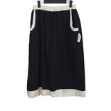 "UNDERCOVER 04AW ""BUT BEAUTIFUL"" BACK MUTIPLE COLOR BUTTONS SEAM STRIPE SKIRT"