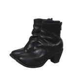 GUIDI 5006 HORSE LEATHER HIDDEN PLATFORM HIGH HEEL BACK ZIP ANKLE BOOTS