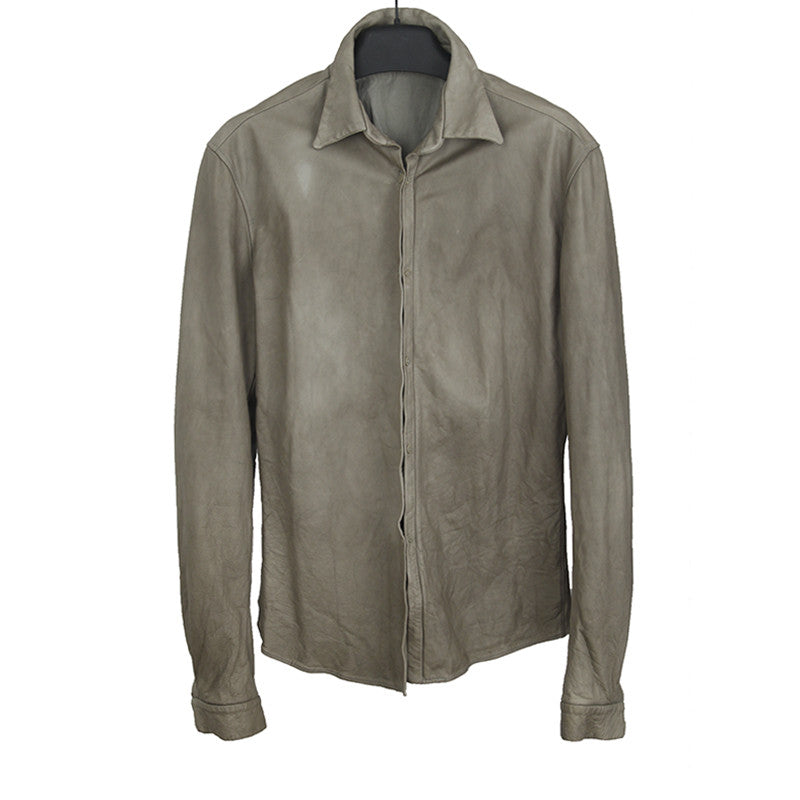CARPE DIEM L'MALTIERI CALF LEATHER SHIRT