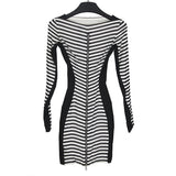 GARETH PUGH SS12 BLACK / WHITE STRIPED DRESS
